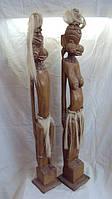 Статуэтка деревянная Маори высота 80см