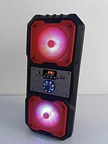 Портативна Bluetooth колонка HLV KTS-1048 Red, фото 2