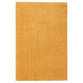 IKEA LANGSTED Килимок короткий ворс жовтий (404.239.41)