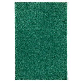 IKEA LANGSTED Килимок короткий ворс, зелений (004.239.38)