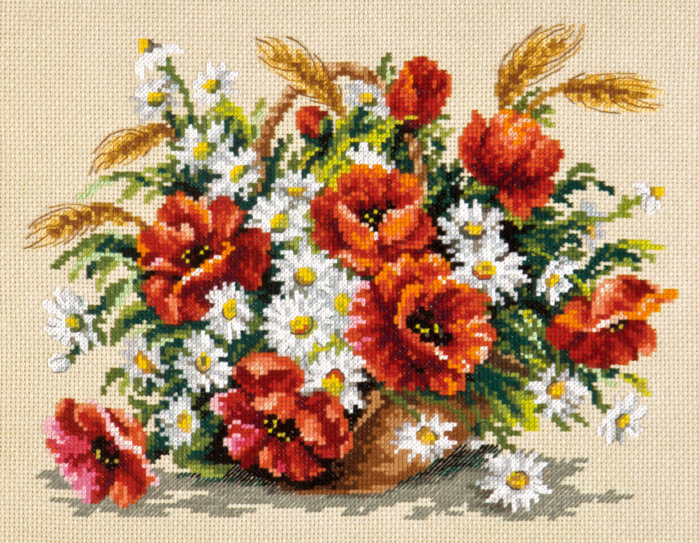 Набор для вышивания Чудесная игла Букет полевых (40-67)