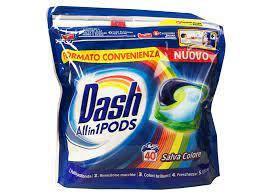Капсулы для стирки Dash Pods 3 в 1 Salva Colore для цветного белья 40шт