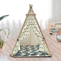 Детская игровая палатка Littledove TT-TO1 Ромбы вигвам домик для детей