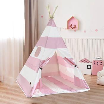 Вигвам Littledove RT-1640 Розово-белая полоска детская игровая палатка