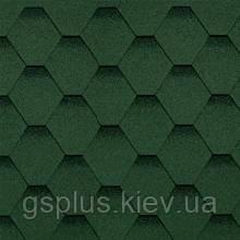Бітумна черепиця Shinglas Класик Кадриль зелений, фото 2