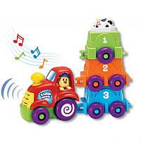 Игровой набор Музыкальный поезд с 3-мя вагончиками keenway K31241