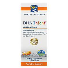 Nordic Naturals, Докозагексаєнова кислота (ДГК) з вітаміном D3 для немовлят, 60 мл