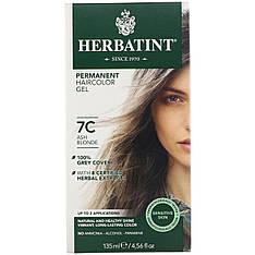 Permanent Haircolor Gel, 7C, Ash Blonde (135 ml), Herbatint