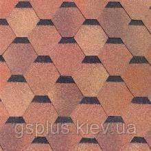 Битумная черепица Shinglas Классик Кадриль красно-коричневый