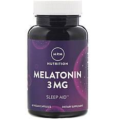 Мелатонін, 3 мг, 60 веганских капсул MRM