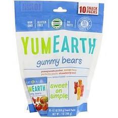 Жувальні ведмедики гаммі, Смак в асортименті, 10 упаковок з снеком (19,8 г) кожна, YumEarth