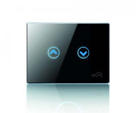 Сенсорный выключатель Vitrum для роллет/жалюзи, Z-Wave, европейский стандарт