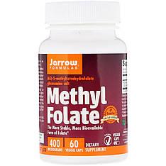 Метилфолат, фолієва кислота, 400 мкг, 60 вегетаріанських капсул, Jarrow Formulas
