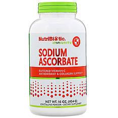 Аскорбат натрия, Витамин C буферизованный (порошок) 454 г, NutriBiotic