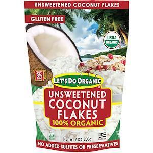 Органічна кокосова стружка без цукру (200г) Edward & Sons