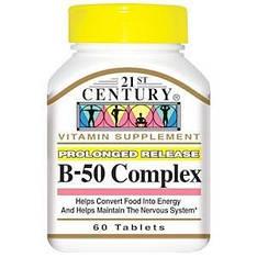 В комплекс В-50, витамины группы В, 60 таблеток 21st Century