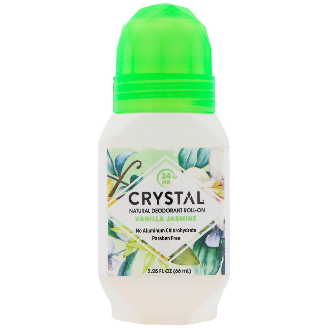 Натуральний кульковий дезодорант, Ваніль, жасмин (66 мл), Crystal Body Deodorant