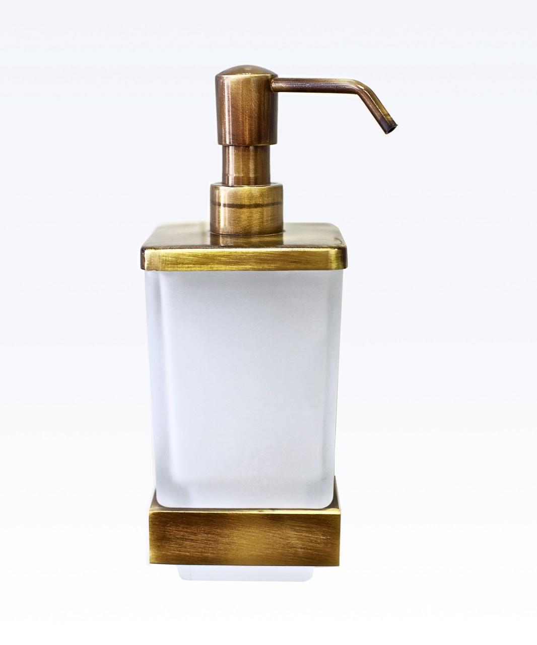 Дозатор для жидкого мыла монтажный серия Viya бронза