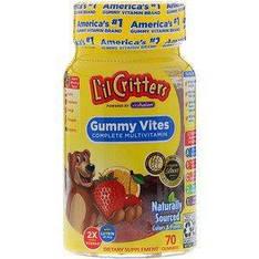 Мультивітаміни жувальні ведмедики 70 жувальних цукерок L il Critters