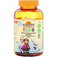 Мультивітаміни для дітей, Холодне серце, полуниця, кавун і малина, 180 таблеток Sundown Naturals Kids