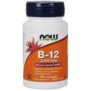 Витамин B12, Б12, 2000 мкг, 100 леденцов Now Foods, фото 2