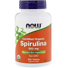 Органическая спирулина, 500 мг, 200 таблеток Now Foods