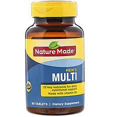 Витамины и мультиминералы для мужского здоровья, 90 таблеток, Nature Made