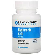 Гиалуроновая кислота, 100 мг, 60 растительных капсул, Lake Avenue Nutrition