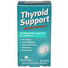 Добавка для підтримки щитовидної залози, 60 таблеток NatraBio