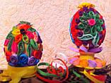 Ексклюзив ручна робота пасхальне яйце в техніці квіллінг, фото 2