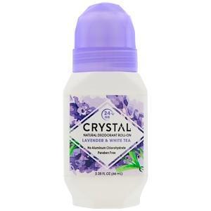 Натуральный шариковый дезодорант, лаванда & белый чай (66 мл), Crystal Body Deodorant