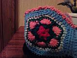 Супер - женские вязаные тапочки шерстяные комнатные  ажурные, фото 4