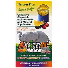 Мультивітаміни для дітей у формі тварин, кілька смаків, 180 тварин nature's Plus