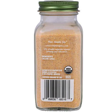 Часниковий порошок (103 г) Simply Organic, фото 2