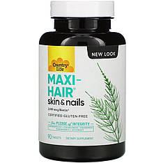 Витамины для волос, кожи и ногтей Maxi-Hair Plus, 90 таблеток Country Life