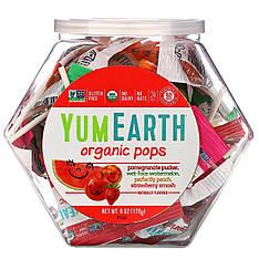 Органічні льодяники на паличці, 170 г (27 шт, різні смаки) YumEarth