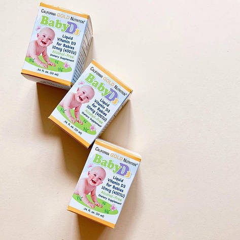 Рідкий вітамін Д3 для дітей на маслянной основі (400 МО), 10 мл (300 доз) California Gold Nutrition, фото 2
