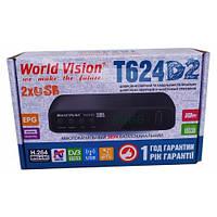 Цифровой Т2 тюнер World Vision T624D2+IPTV