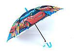 Зонты для мальчиков  полуавтомат трость на 8 спиц плотный купол, фото 4