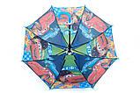 Зонты для мальчиков  полуавтомат трость на 8 спиц плотный купол, фото 7