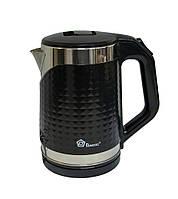 Чайник электрический Domotec MS-5027 черный, электрочайник емкостью на 2.2 л   електричний чайник