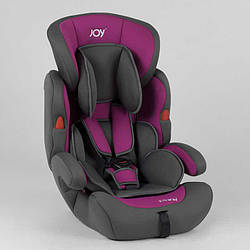Автокрісло JOY NB-5003 (4) колір сіро-фіолетовий, універсальне від 9 до 36 кг, з бустером