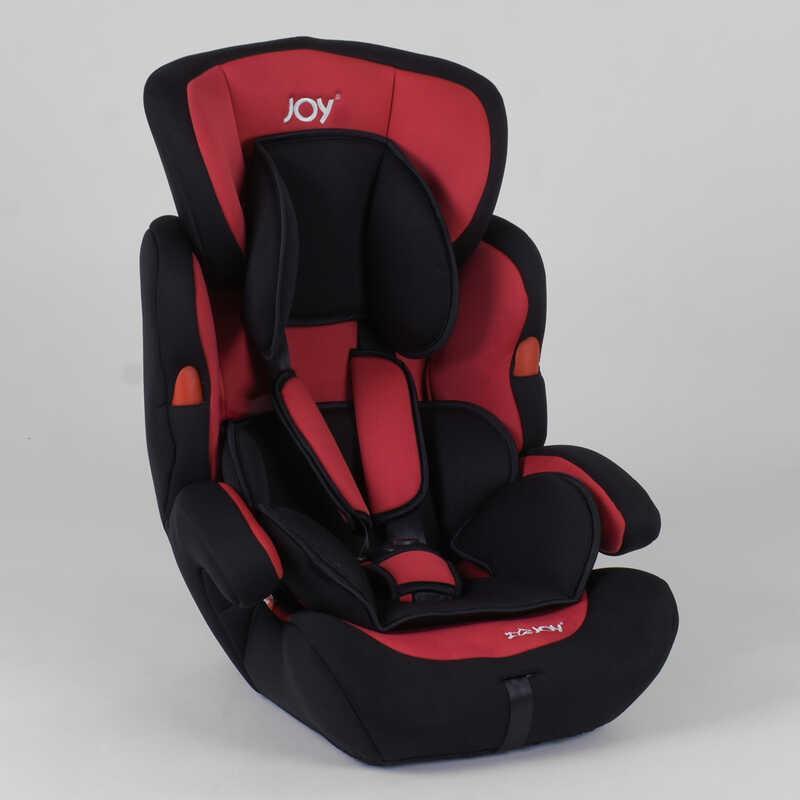 Автокресло JOY NB-7104 (4) цвет черно-красный, универсальное от 9 до 36 кг, с бустером