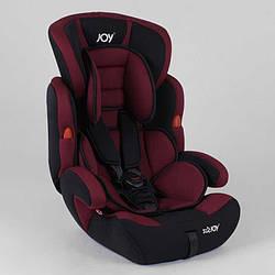 Автокрісло JOY NB-8555 (4) колір чорно-бордовий, універсальне від 9 до 36 кг, з бустером