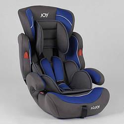 Автокрісло JOY NB-8660 (4) колір сіро-синій, універсальне від 9 до 36 кг, з бустером