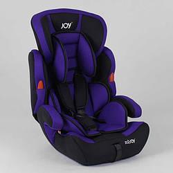 Автокрісло JOY NB-9777 (4) колір чорно-фіолетовий, універсальне від 9 до 36 кг, з бустером