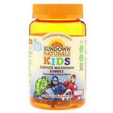 Мультивітаміни з вітаміном C, Месники, полуниця, кавун і малина, 60 таблеток Sundown Naturals Kids