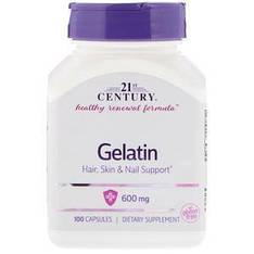 Желатин, 600 мг, 100 капсул 21st Century