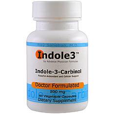 Індол 3 карбінол, 200 мг, 60 вегетаріанських капсул Advance Physician Formulas, Inc.