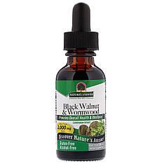 Чорний горіх і полин, без спирту, 2,000 мг, 30 мл nature's Answer